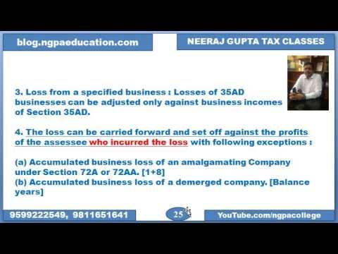 Treatment of business loss u/s 72, Speculation loss u/s 73 & Amalgamation u/s 72A (Set Off)