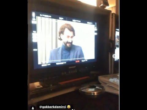 Yemin Özge Gökberki Sette videoya çekdi.Eğlenceli görüntüler