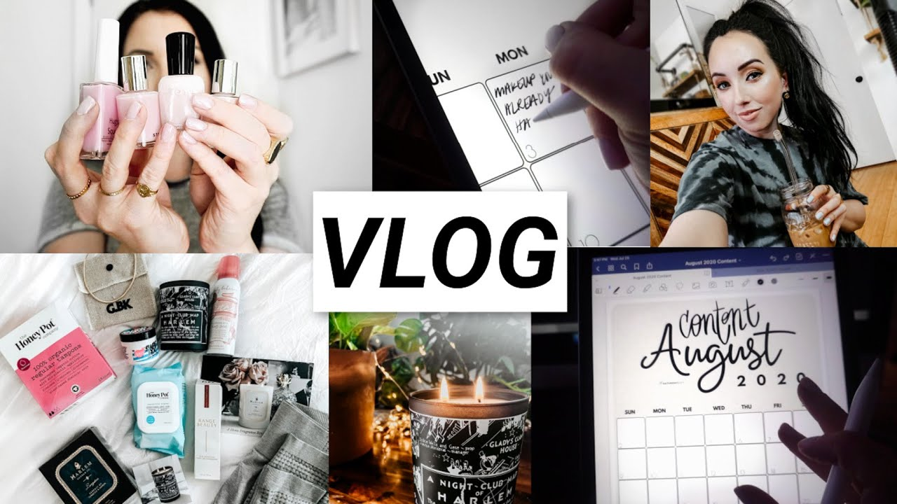 Best Milky Pink Nails, iPad planning, Black Owned Brands Haul [so much good stuff] & Chipotle | VLOG