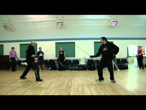 Sword fighting classes in London - basic military sabre class part 2