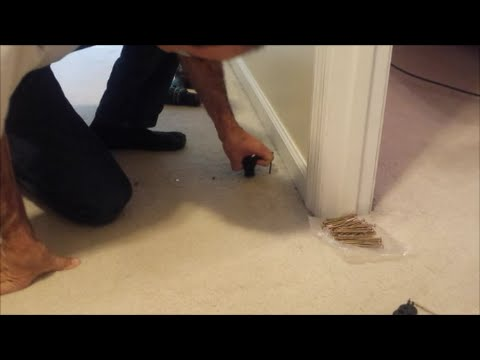 Repair A Squeaky Floor Without Removing The Carpet Youtube