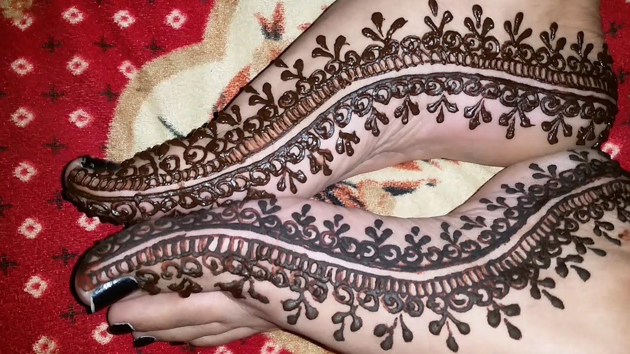 Mehndi Designs Feet N : New foot mehndi design pakistani style youtube