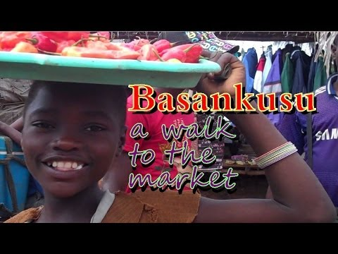 Basankusu: A walk to the market - Congo, Africa (English subtitles)