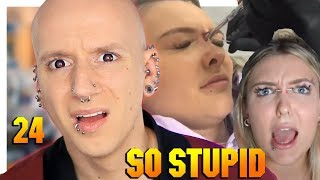 Reacting To YouTuber Piercing Themselves for clout   Piercings Gone Wrong 24   Roly Reacts