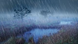 Rain + River Night Ambience | Nature White Noise Study or Sleeping Aid | 10 Hours Stress Relief