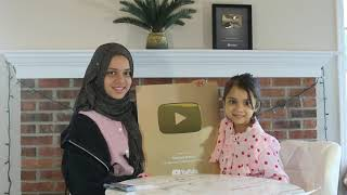 ▶️✨🎉YouTube Gold Play Button for Maryam, Fatima and their die hard Fans 💕