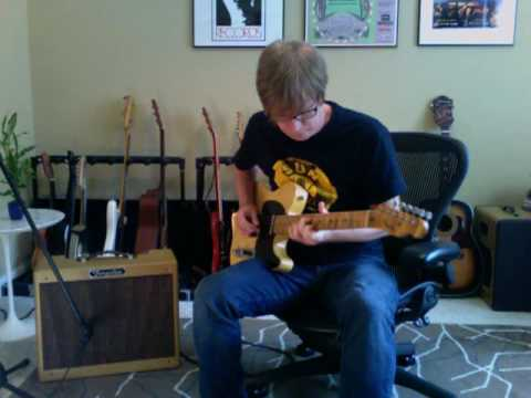 Tungsten Amp Crema Wheat Tweed Deluxe guitarist Greg V. with Fender Nocaster