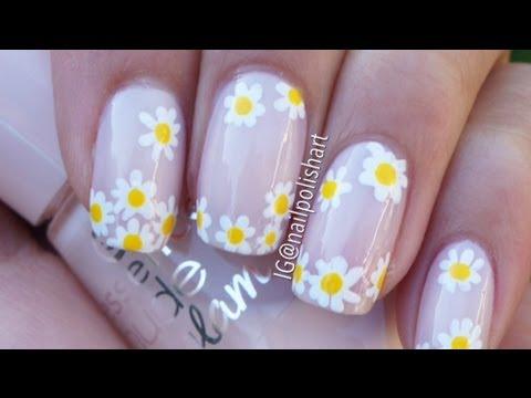 Easy Daisy nail art tutorial  YouTube
