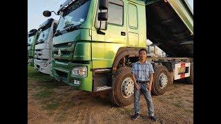 Xe tải ben Howo 4 chân 371hp CNHTC thùng đúc 6m4