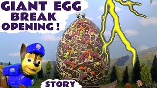 Paw Patrol Prank GIANT Surprise Egg with Thomas The Tank Engine & Little Live Pets Golden Chick TT4U