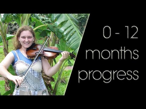 Adult beginner violinist: 0 - 12 months violin progress