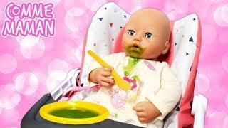 Vidéo en français pour enfants. Bébé Born Annabelle mange toute seule