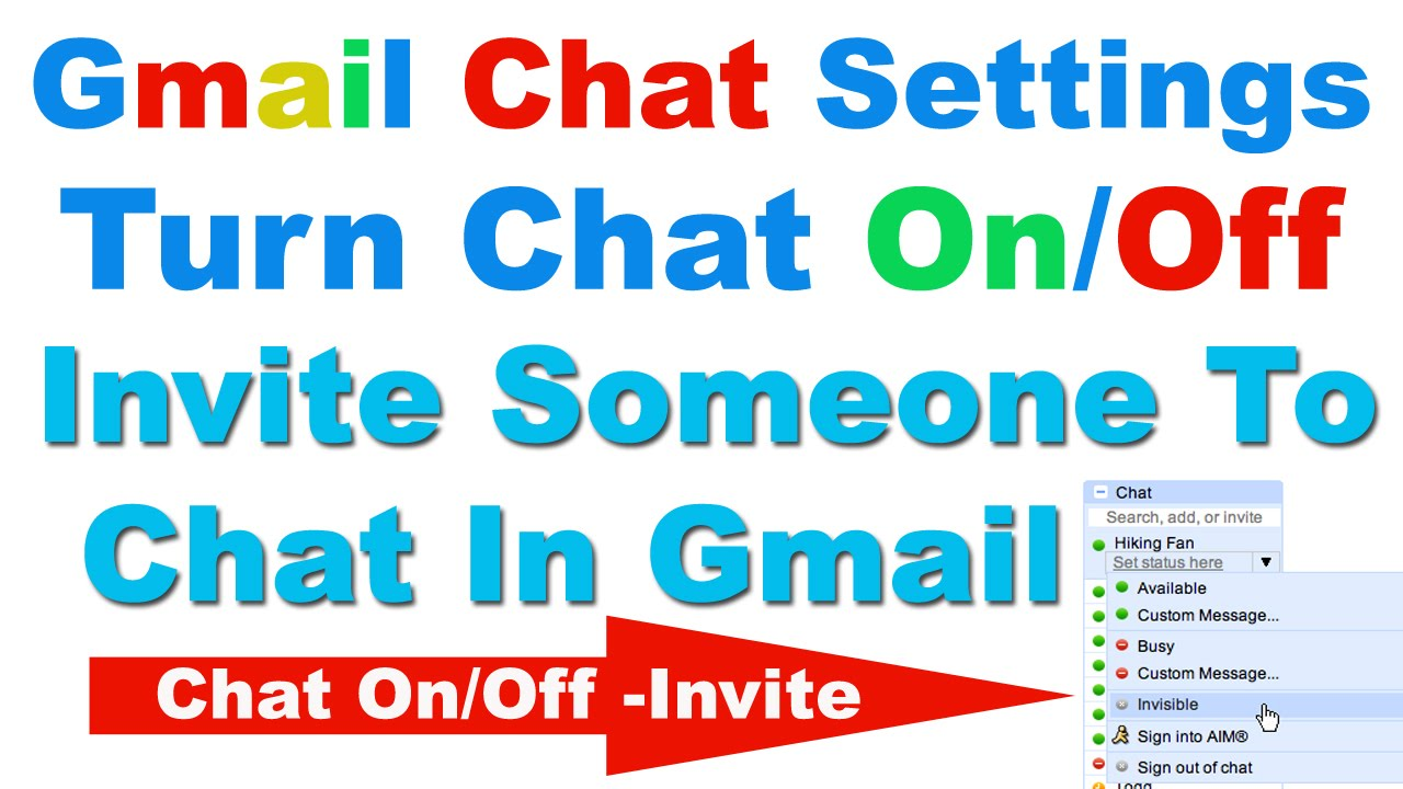How to Turn Chat OnOff In Gmail and Invite Someone to Chat In Gmail