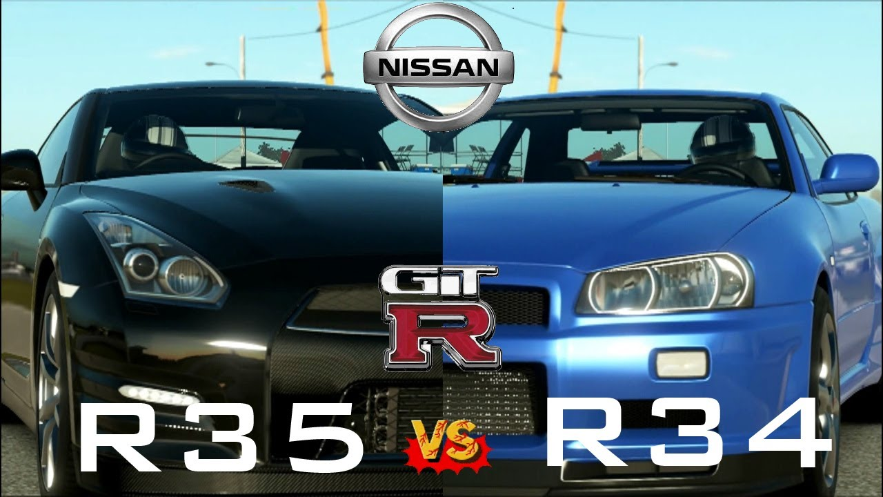 Forza 5   2012 Nissan GTR(R35) Vs 2002 Nissan Skyline GTR(R34) On Sebring    YouTube