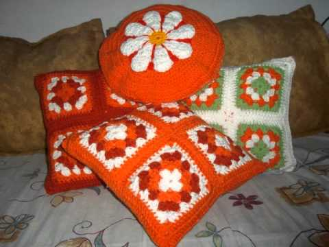 Almohadones Crochet - YouTube