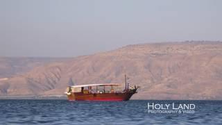 Boat on Sea of Galilee - 4k