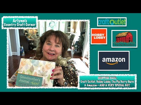 Shopping Haul Craft Outlet Hobby Lobby Amazon A Very Special Gift Youtube