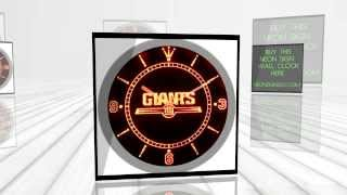 New York Giants American Football Neon Sign Bar Wall Clock