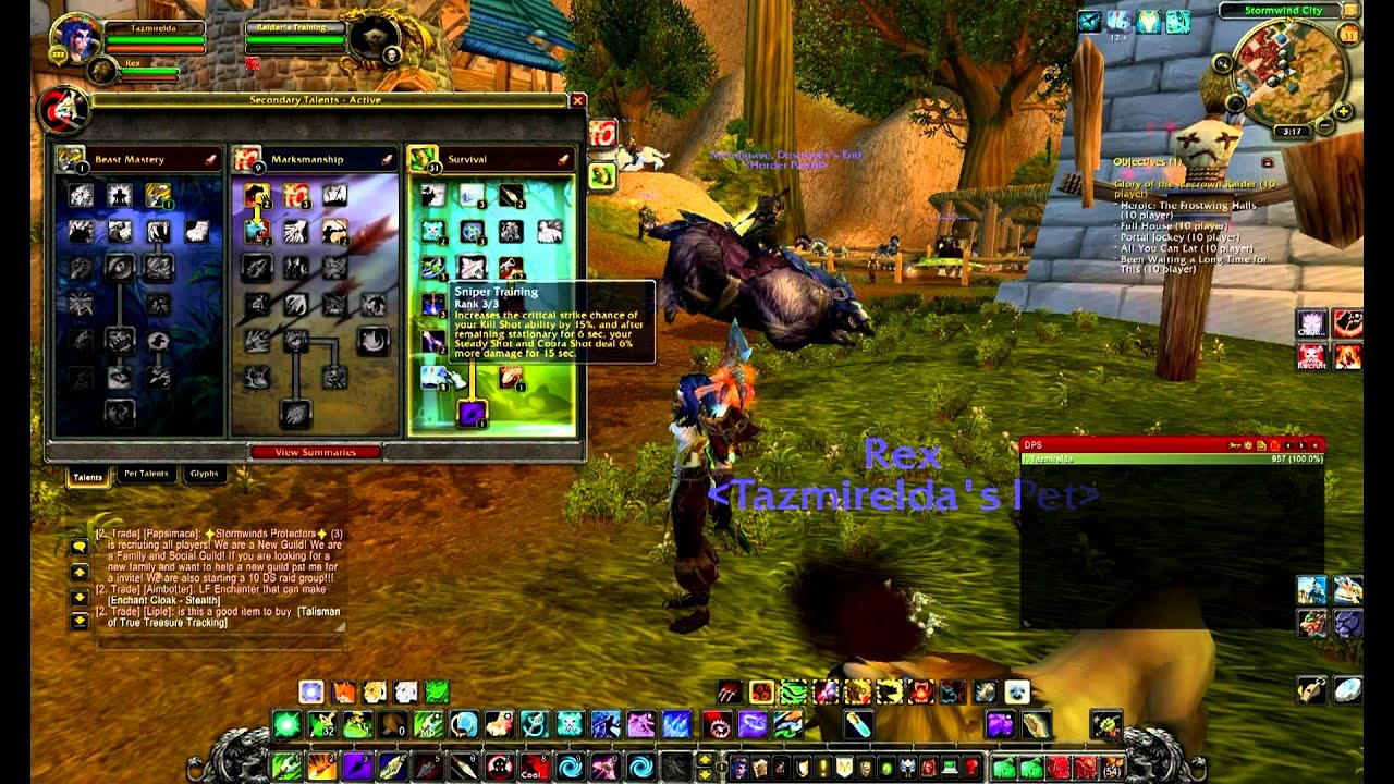 Wow survival hunter dps guide 4 3 4 youtube for Cuisinier wow guide