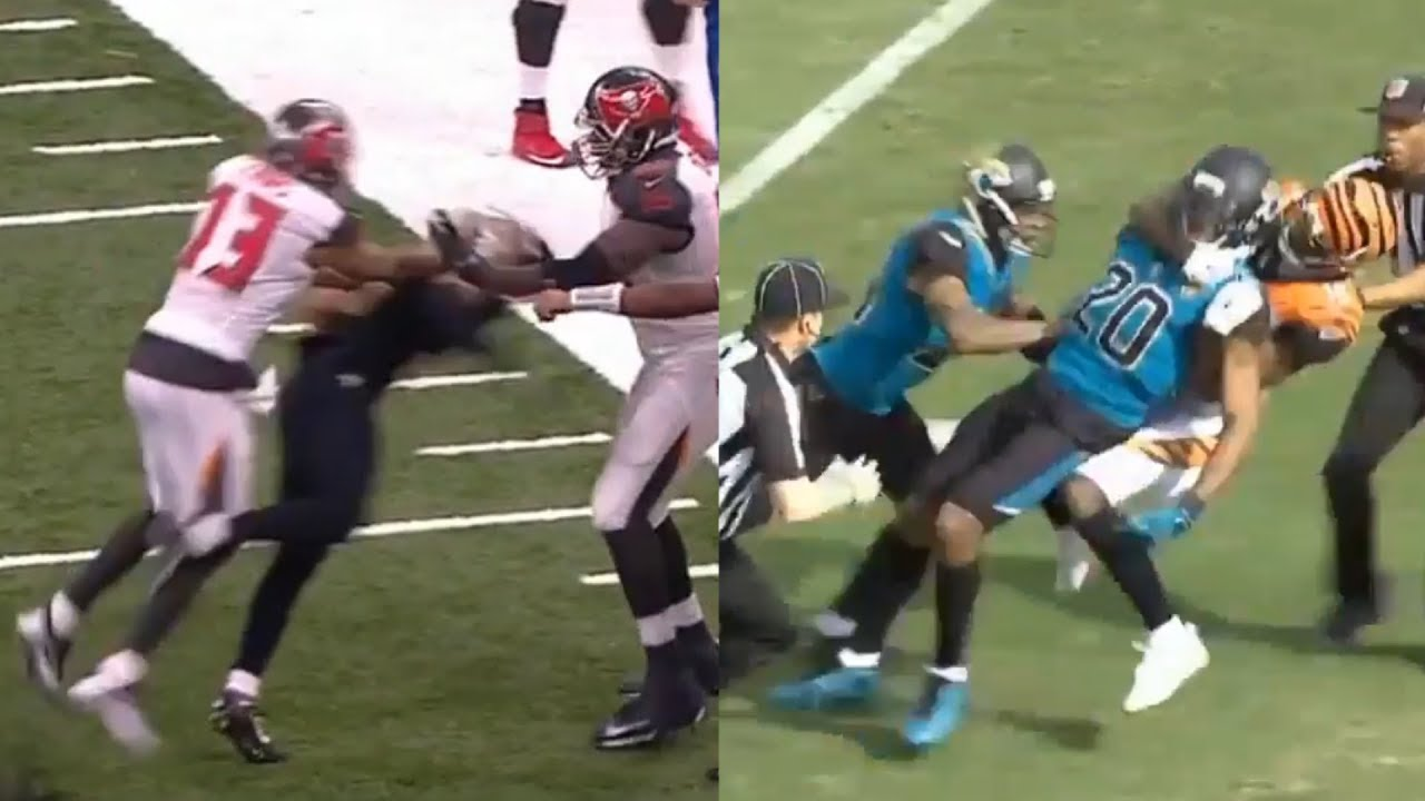 Several Fights Break Out During Sunday Football Youtube
