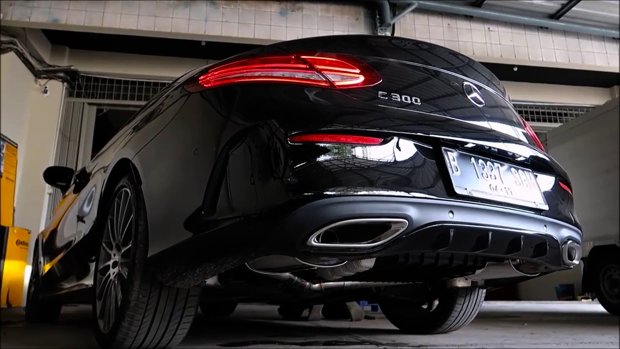 2017 mercedes benz c300 w205 coupe w armytrix exhaust for Mercedes benz c300 exhaust