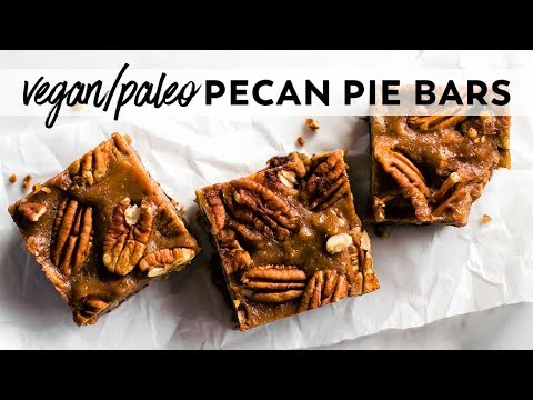 Pecan Pie Bars {vegan, Paleo, Date-sweetened}