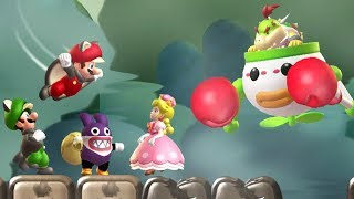 New Super Mario Bros. U Deluxe - All Bosses (4 Players)