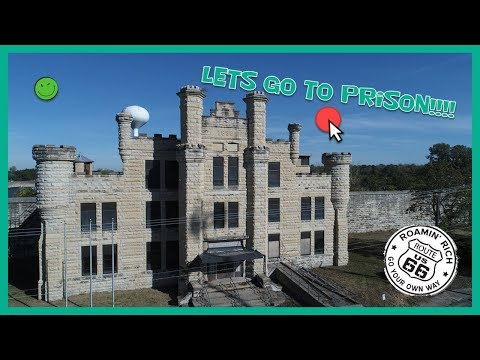 Doing a flyover of the abandoned Joliet Prison near Route 66!  Illinois Pen.