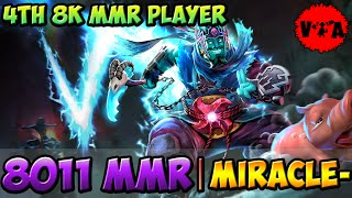 8011 MMR - Dota 2 Miracle- Plays Storm Spirit vol #2