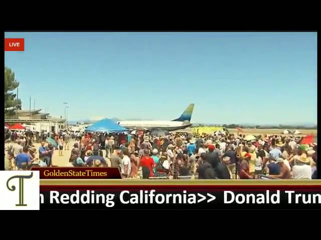 TRUMP Force One Flyby in REDDING, CA (Redding Municipal Airport AOA Ramp) (6 3)