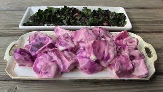 Beets With Sour Cream And Sauteed Beet Greens - Mediterranean Diet