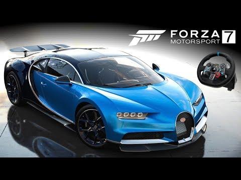 O Sonhado CHIRON! Forzavista e Top Speed   Forza Motorsport 7 + G29