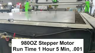 Resolution 980 OZ Stepper 1 Hour Run Time .001