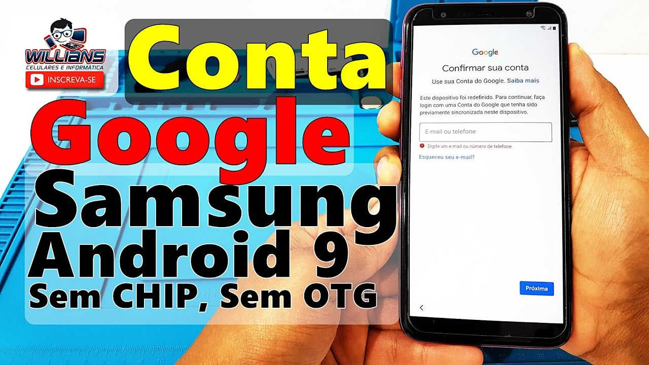 Conta Google Samsung Android 9 Sem Chip Sem Otg J4 Plus J6 Plus