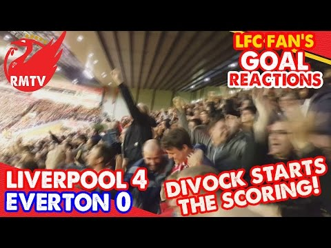 Divock Starts The Scoring! | Liverpool 4-0 Everton | LFC Fan Goal Reactions