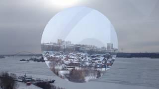 Новосибирск зимой с высоты 35 метров  Набережная  Оби, колесо обозрения.