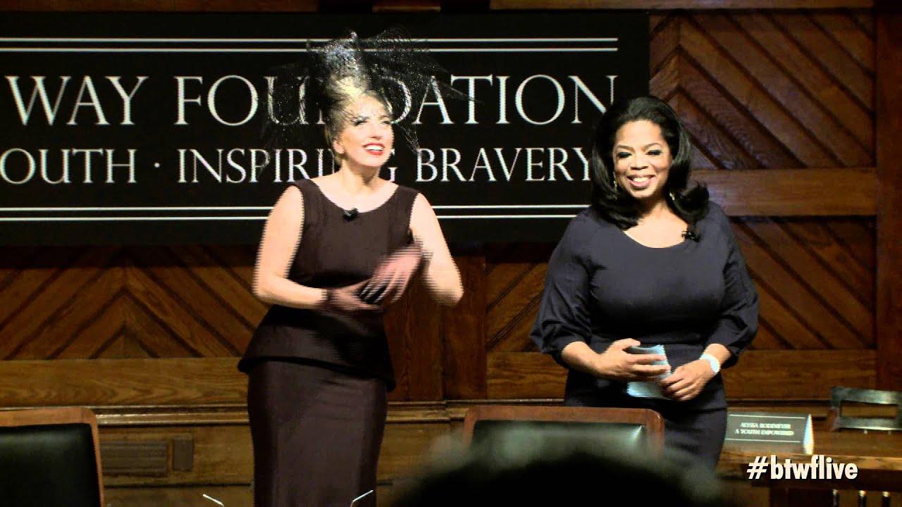 Oprah Winfrey Introduces Lady Gaga: Born This Way Foundation ...