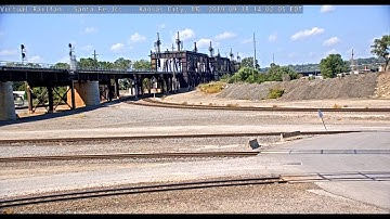 Santa Fe Junction - One of the Busiest! - Kansas City, Missouri, USA | Virtual Railfan LIVE