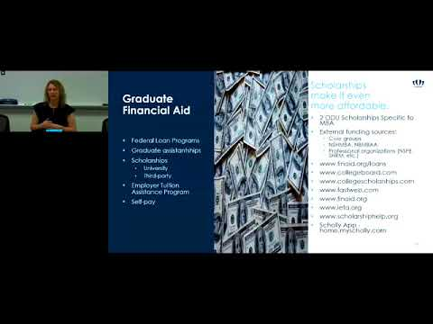 ODU MBA Tuition & Financial Aid