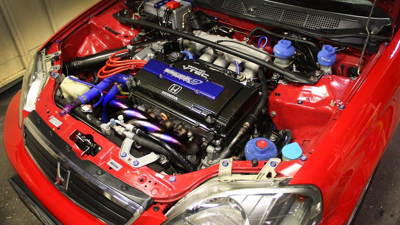 Ek Civic Vti Engine Detailing Motor Içi Detaylandırma Youtube