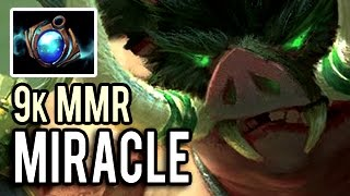 Miracle- The Best Pudge In The World ShowMatch of 9k MMR Dota 2 Gameplay