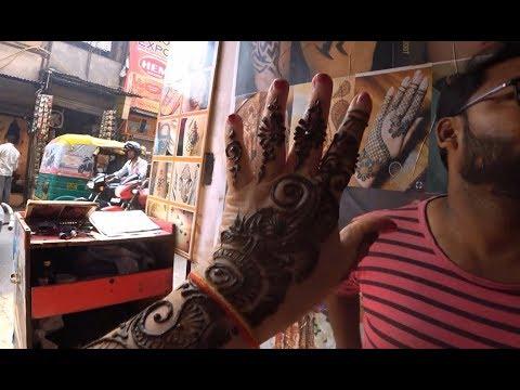 114. Супер тали, обед в Дели. Рисуем мне мехенди на руке для Карва Чоут. Мэйнбазар.