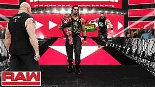WWE Raw 8/20/18 - New Universal Champion Reigns & Strowman Cashes In His MITB ft. Lesnar - WWE 2K18