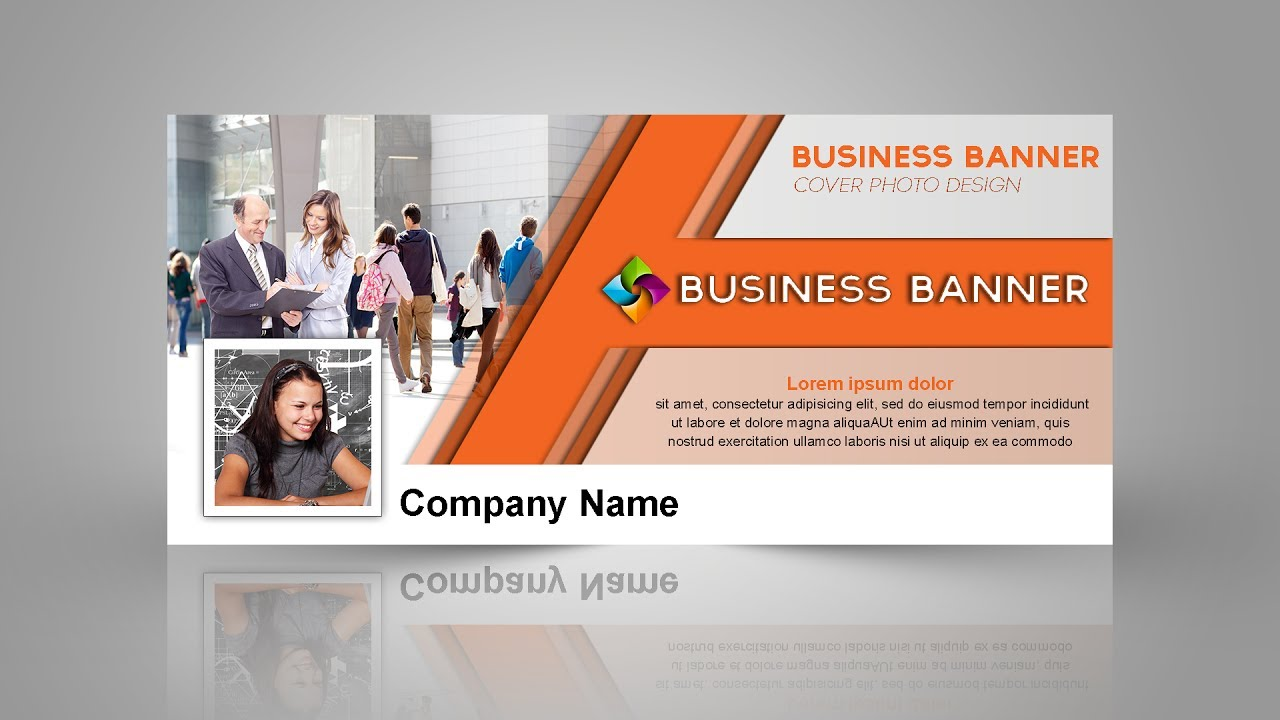 Facebook cover photo design in Photoshop cc for Business Page