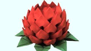Цветок из салфеток(Салфетки, сложенные таким образом, станут украшением любого стола или интерьера. Материалы: зеленые салфет..., 2015-05-31T11:40:22.000Z)
