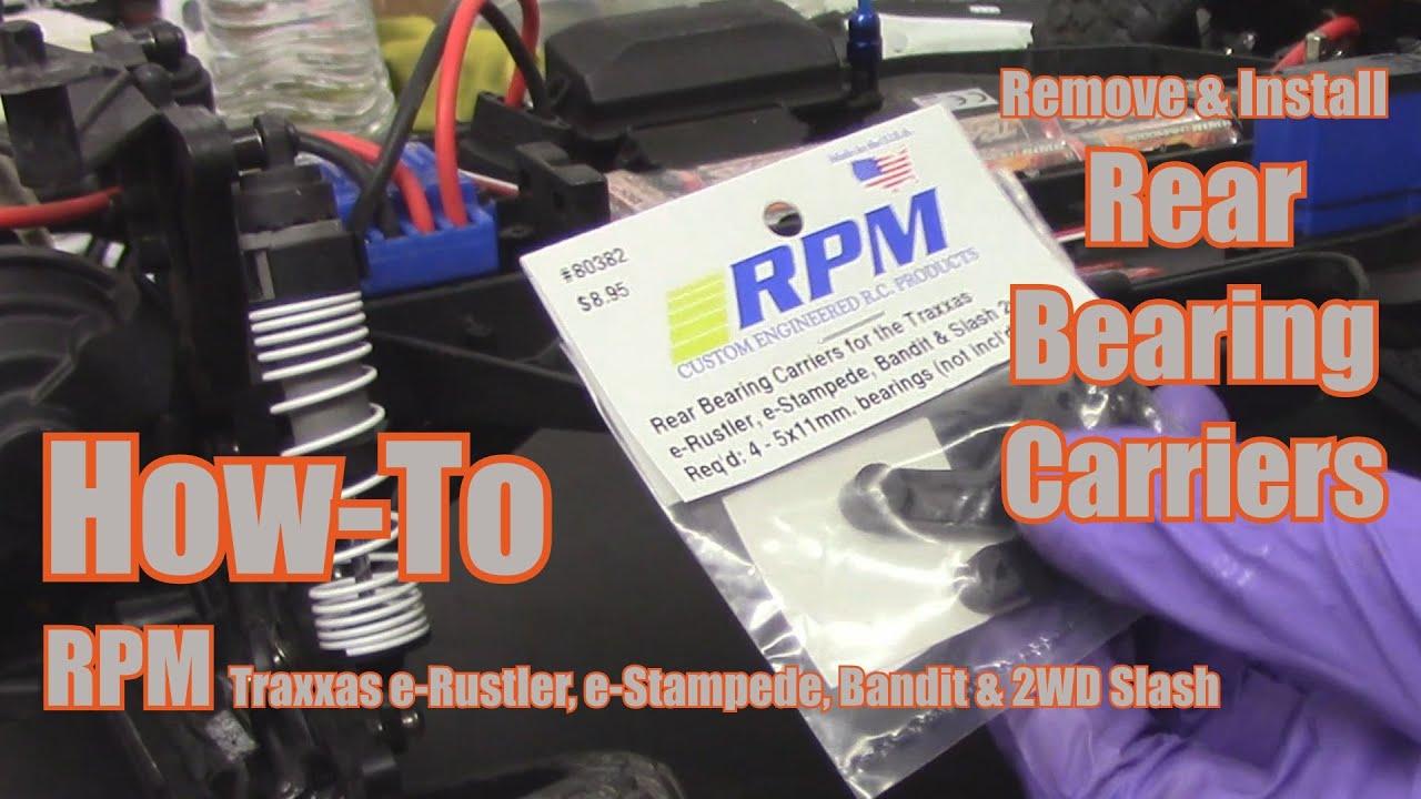 NEW RPM Traxxas Rustler Stampede Bandit Slash Rear Bearing Carriers 80382