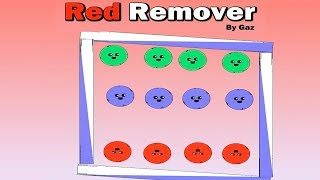 Red Remover - Block Are Funny - Logic Puzzle Game for kids, walkthrough.