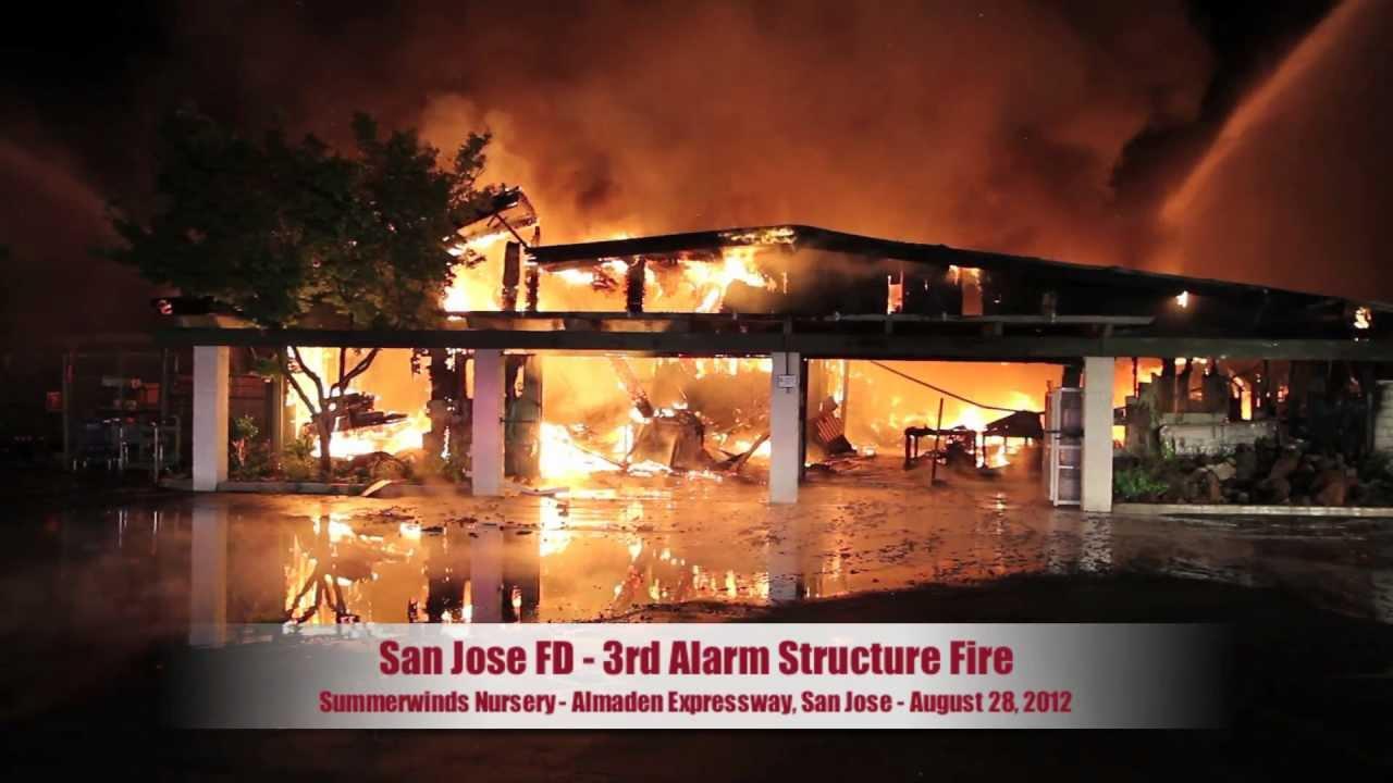 3 Alarm San Jose Fire Destroys Nursery Youtube