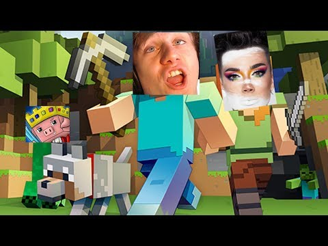 Minecraft Monday - beating james charles @ tnt run ($5,000 in title for more views?) thumbnail