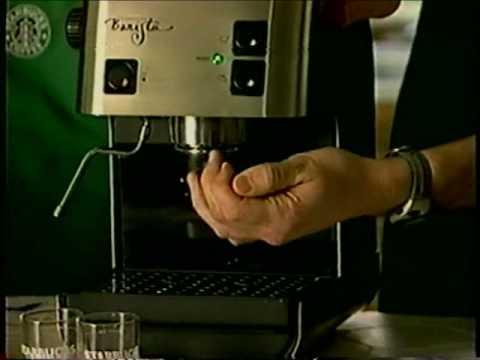 1998 Starbucks Barista Home Espresso Machine Demo Tape Part 1 Youtube